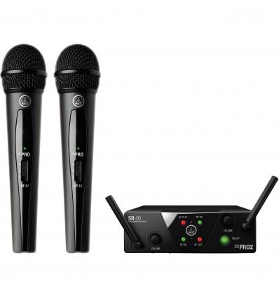 Microfono Inalambrico Dual AKG WMS40 MINI VOCAL DUAL